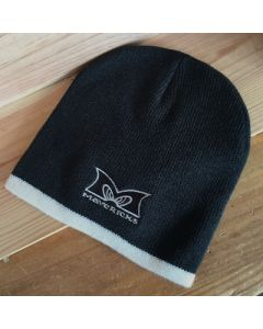 Mavericks Two Tone Beanie in Black and Cream