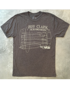 Jeff Clark Surfboards Blueprint Tee