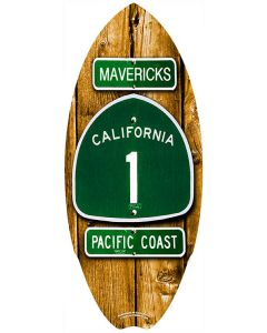 Mini Surfboard Decor: Highway 1