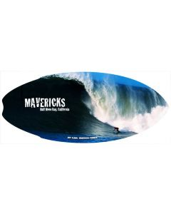 Mini Wooden Surfboard: Mavericks Wave