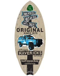 Mini Wooden Surfboard: K5 Blazer