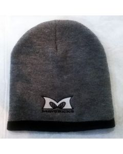 Two Tone Beanie in Gray with Black Trim