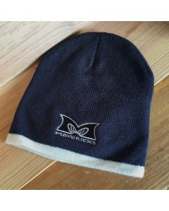 Mavericks Two Tone Beanie in Navy with Cream Trim