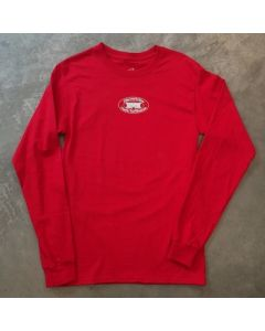 Mavericks Old School Logo Long Sleeve Tee in Red