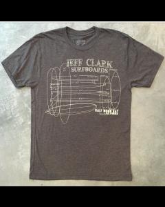 Jeff Clark Surfboards Blueprint Tee