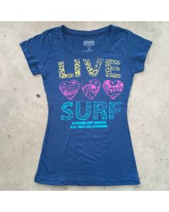Live, Love, Surf Short Sleeve Tee