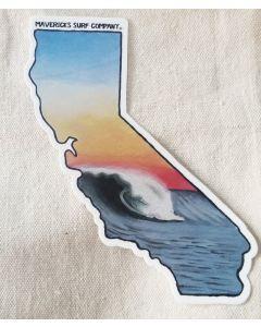 California Surf Sticker