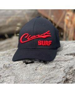 Red Clark Surf Flex Fit Hat