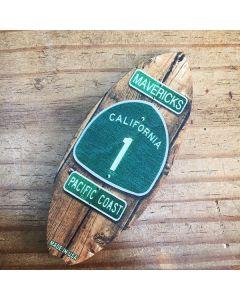 Highway 1 Surfboard Magnet