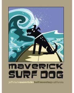 Maverick Surf Dog Sticker